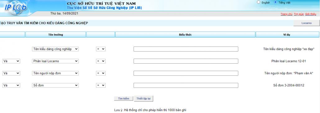 Tra cứu kiểu dáng công nghiệp đã đăng ký tại Việt Nam