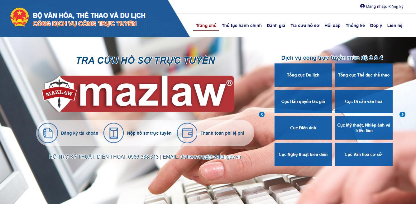 Đăng ký bản quyền tác giả online qua cổng dịch vụ công trực tuyến